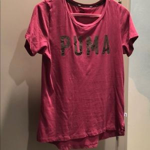 🍎 Pink Puma exercise top size large